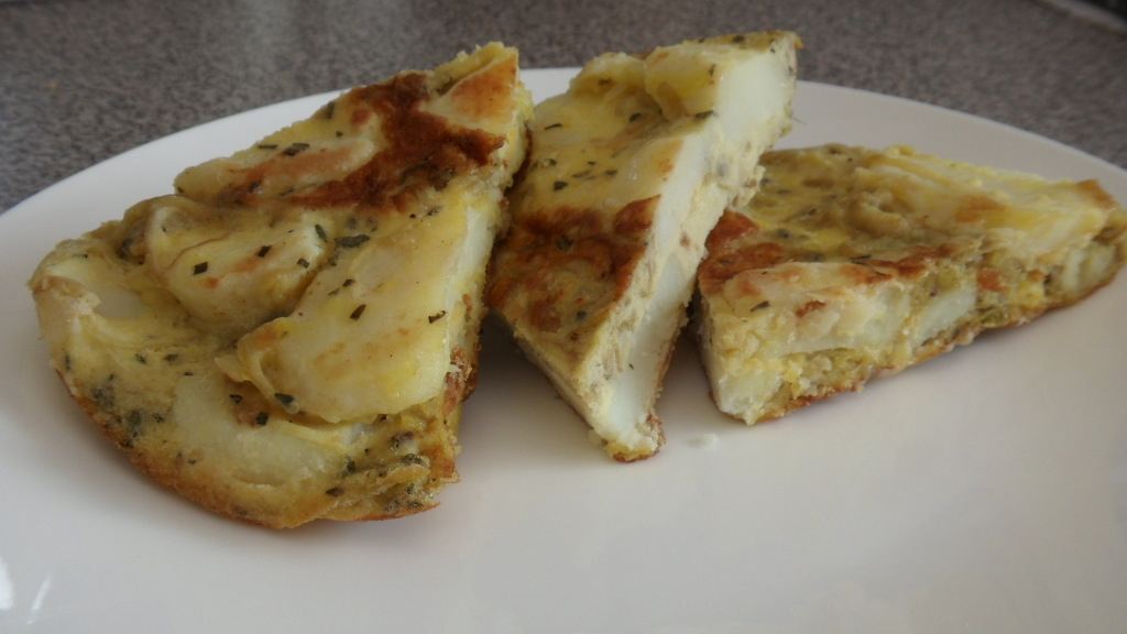 Potato and Herb Frittata (and No Salt Vegetable Medley) »